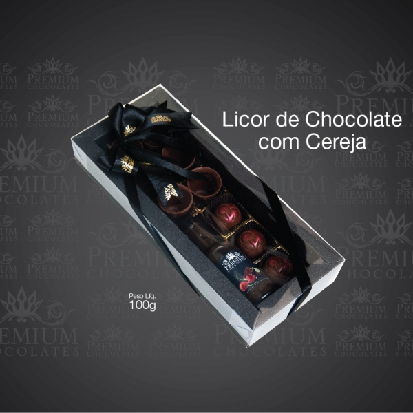 Licor de Chocolate com Cereja