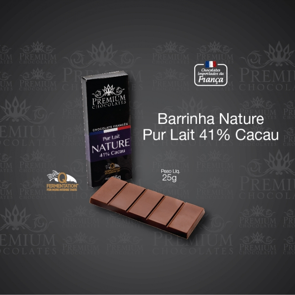 Barrinha Nature Pur Lait 41% Cacau