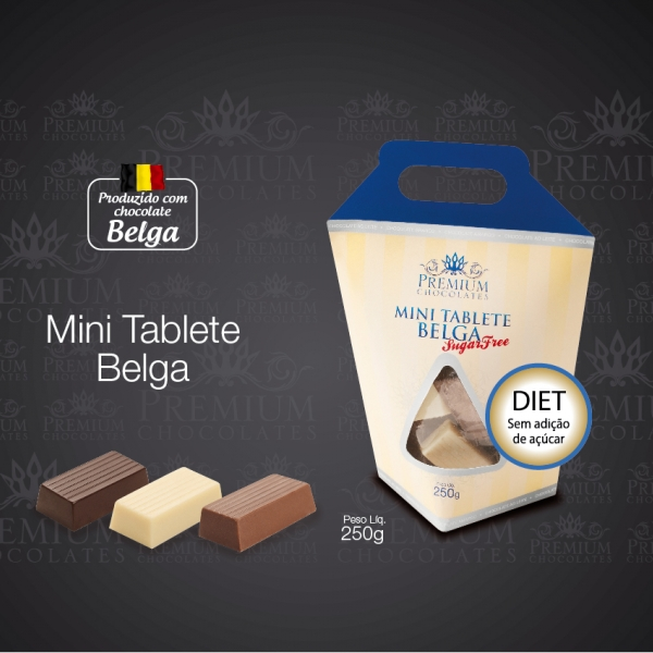 Mini Tablete Belga Sugar Free